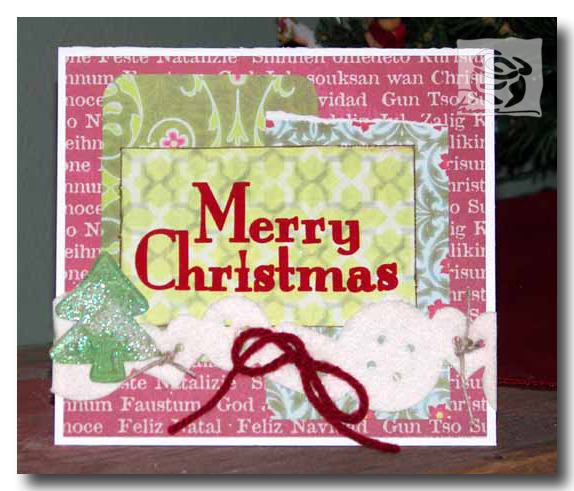 Prima Merry Christmas Card