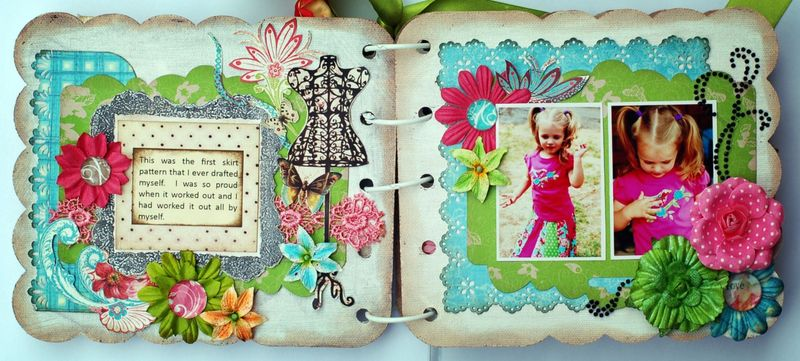 Janine Fashionista Mini Album Page 2 and 3