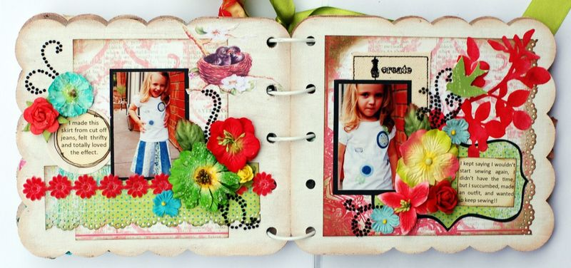 JanineFashionista Mini Album Page 4 and 5