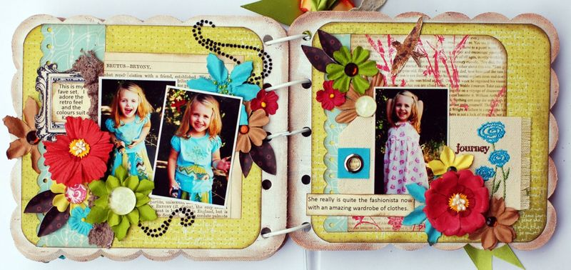 JanineFashionista Mini Album Page 6 and 7