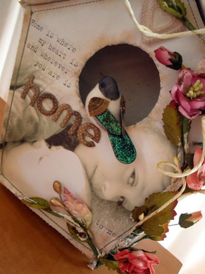 Canvas album birdhouse louise williams