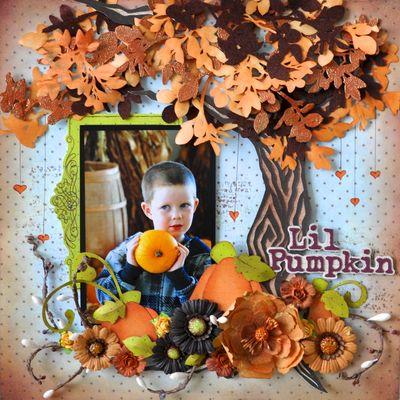 Paperpiecing jamiedLil Pumpkin