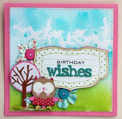 Card janine - Birthday Wishes