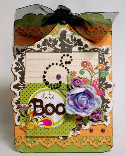 Halloween anabelle boo card
