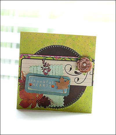Fall liana Thankful heart card P