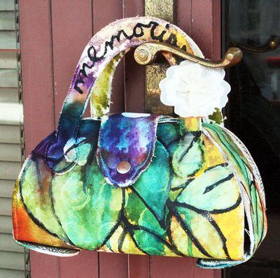 Canvas julie purse outside