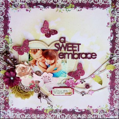 Canvas heart janine A Sweet Embrace-1