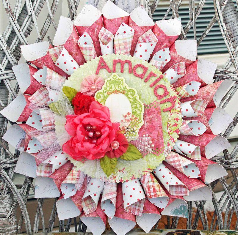 Sparkling spring sharon wreath