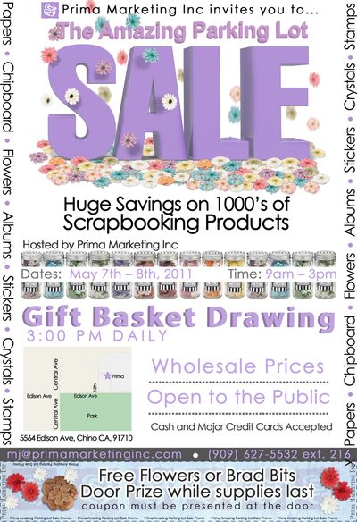 Parking lot sale poster w coupon