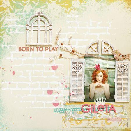 Masks anna-marie wborn to play 'Gileta'