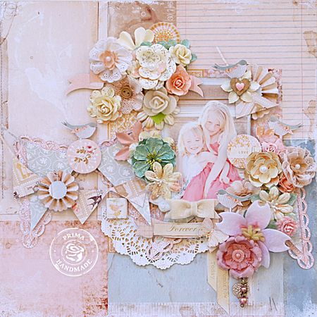 CHA Songbird Col Layout 'Today, Tomorrow, Forever by Trudi Harrison