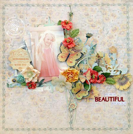P April BAP Sun Kiss Collection Layout - Trudi Harrison WM