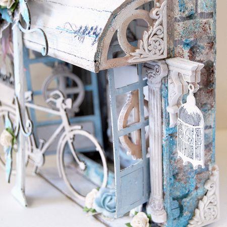 Altered 6 x 6 Shadow Box Detail 1- Trudi Harrison