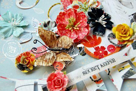 P April Doodle-Deux Layout 'Secret Keeper' Butterfly Detail - Trudi Harrison WM