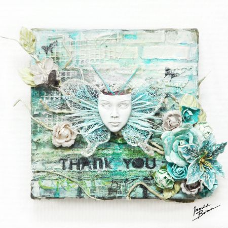 Thank you - with resin mask - w wm