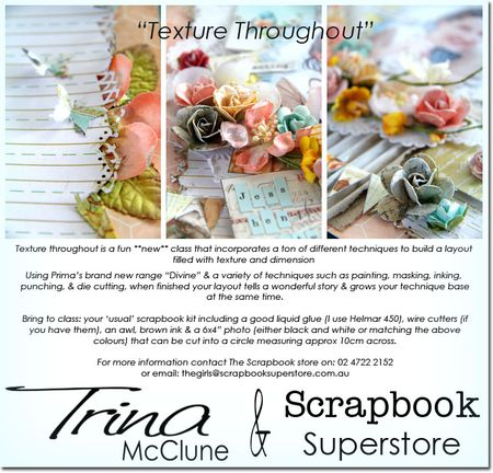 Texture scrapbook-store-flyer-bring-list