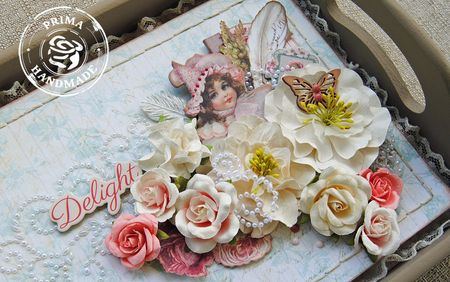 Flowers Delight- Delaina Burns - Dec. Tray Close Up