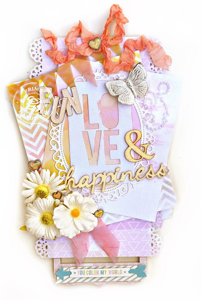 Jennifer Prima Pink Paislee Colorwash Fun Tag TM
