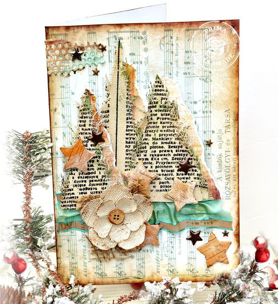 Nov Card using wood and Burlap TM