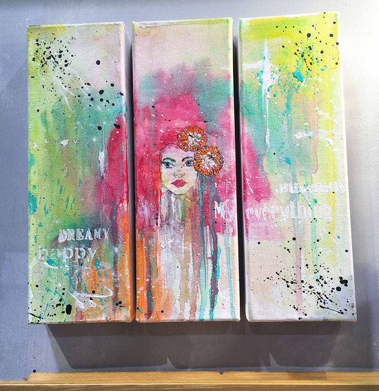 Bloom girls canvas