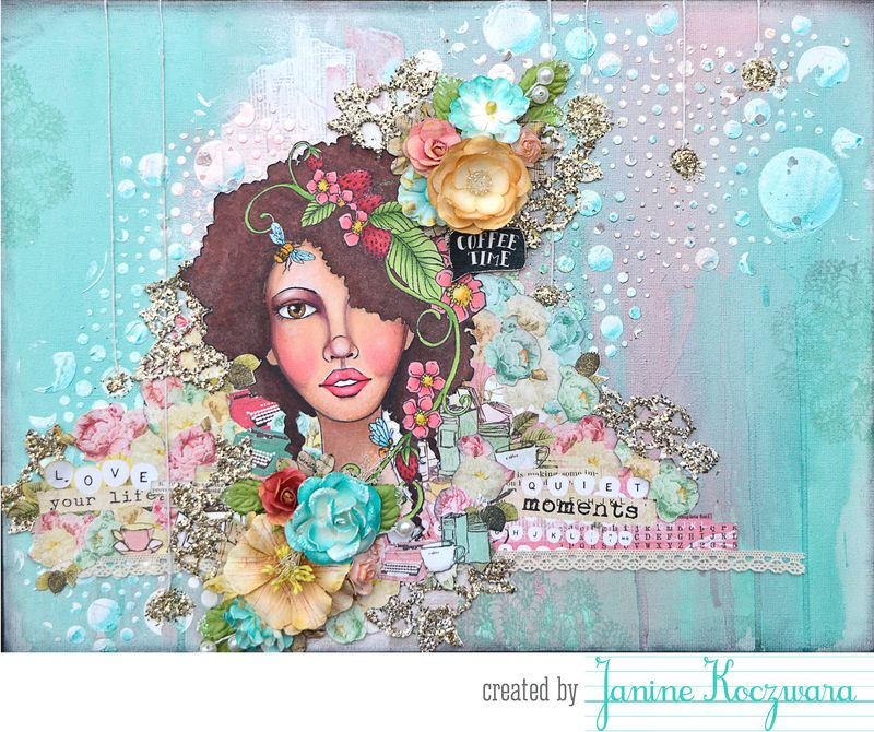 Bloom janine canvas