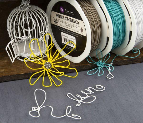 Brown Prima Marketing Wire Thread 25-Yard