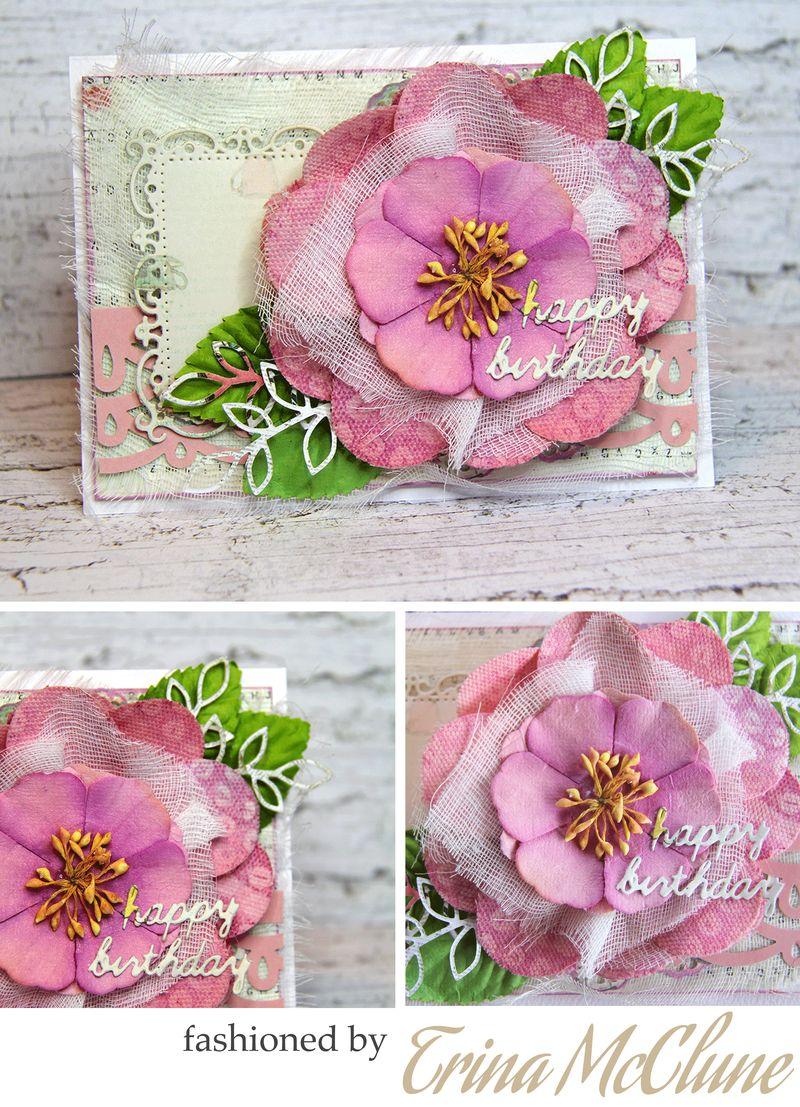 Flowers trinacard