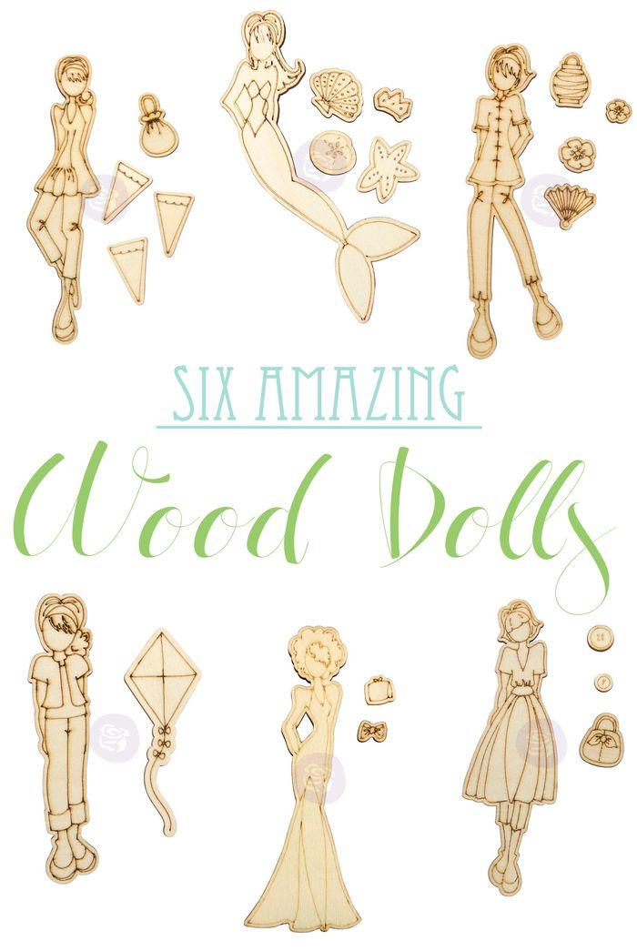 Wood dolls