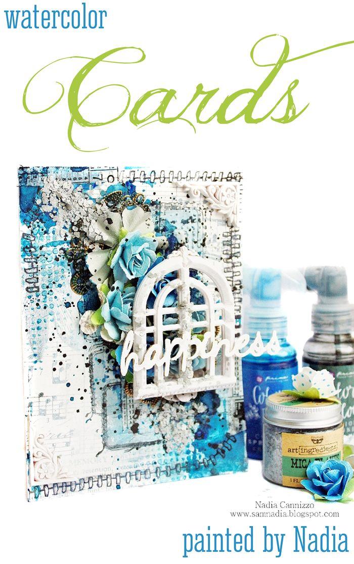 Watercolor card nadia