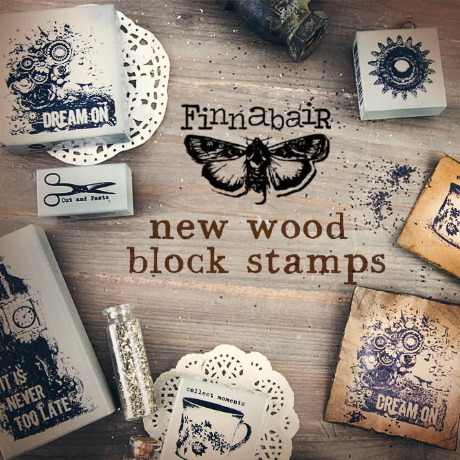Finnabair wood blockstamps