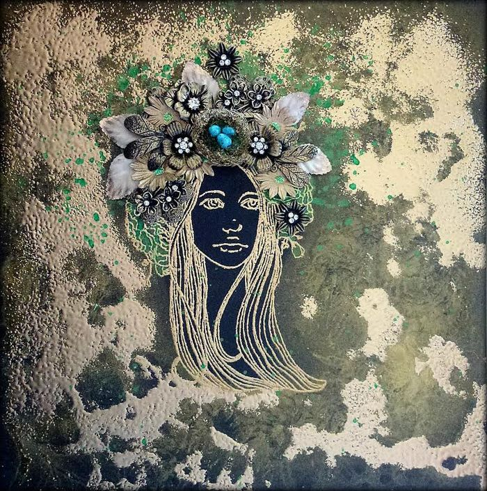 Bloom louise mother canvas