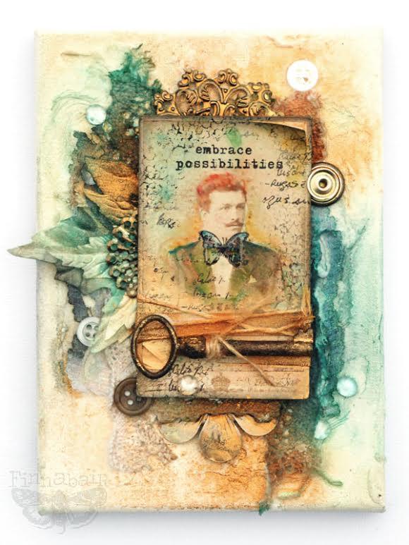 Watercolor card finn