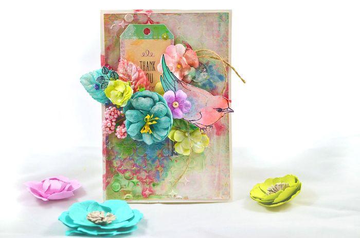 Watercolor Song Li card