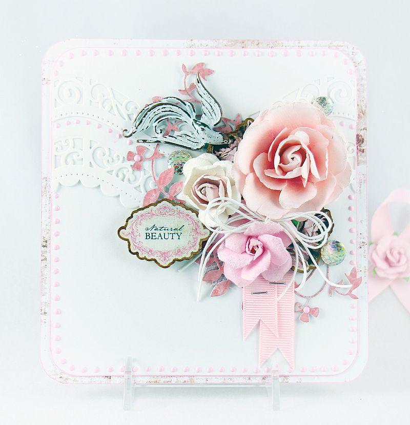 Pink robin card