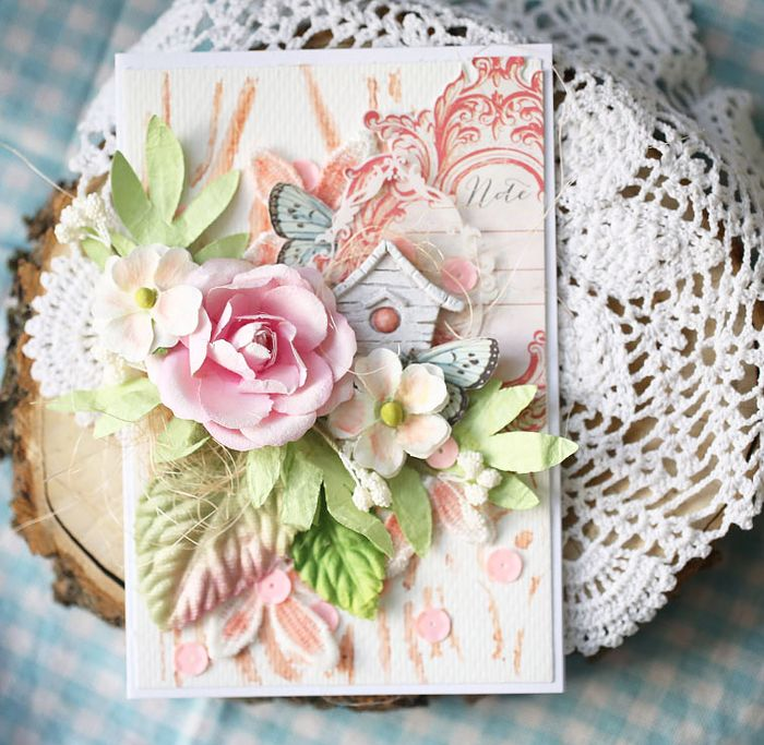 Watercolor card evgenia