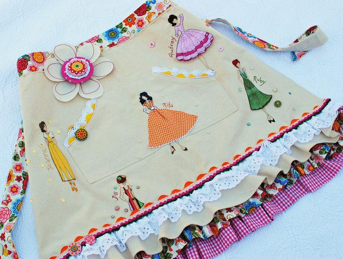 JN Apron Stitched with Fabric- Delaina Burns (1)