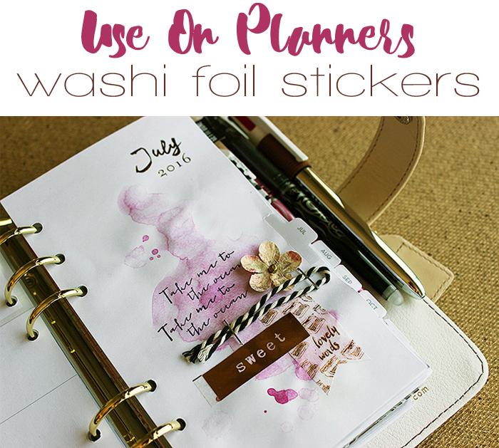 Washi planner collage