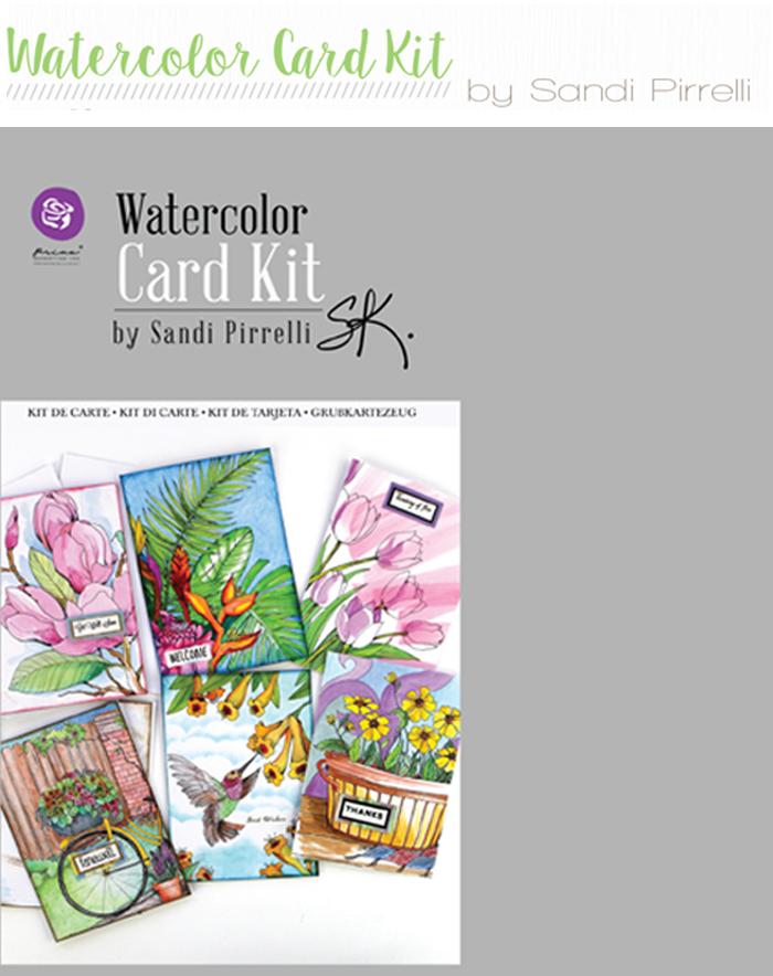 Watercolor card kit