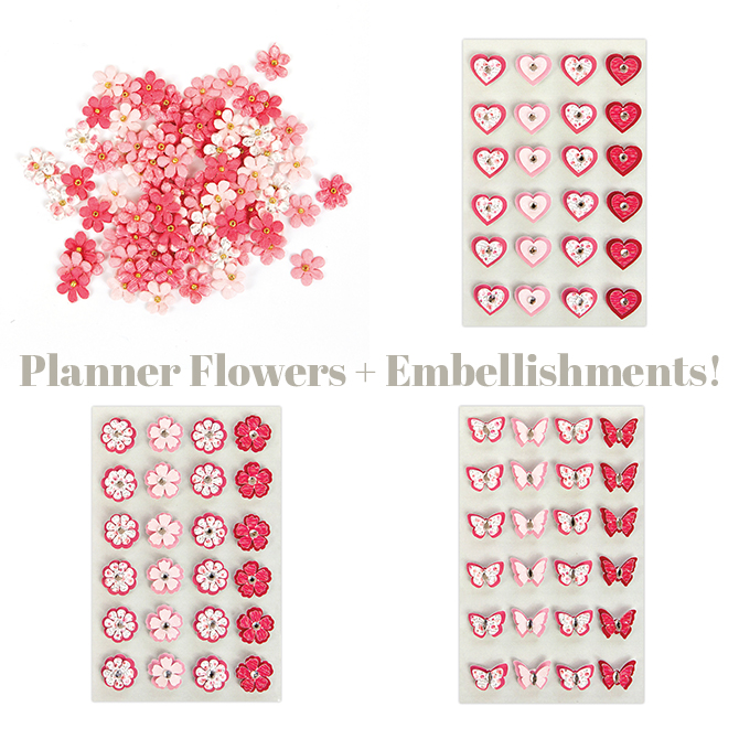 Flowers + Embellishments Collage