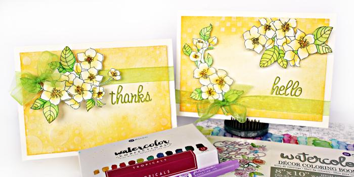 Watercolor Tropicals_Coloring Book 4_Watercolor Paper_Robbie Herring