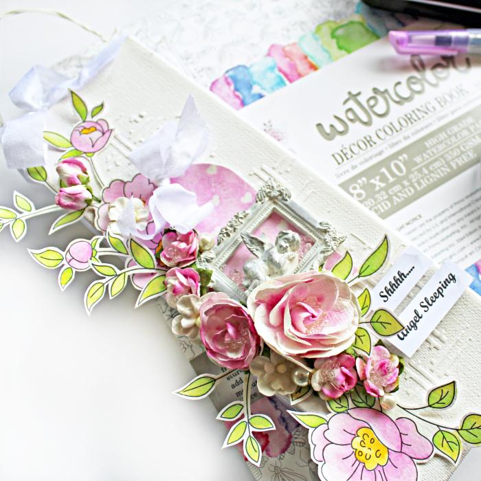 Door Hanger_Watercolor Pastels_Coloring Book 4_Robbie Herring_close 1