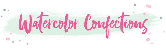 Watercolor confections