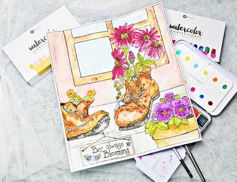 Joanne-Bain_Prima_Watercolour-page-1_Garden-Gate_Sandi-Pirrelli