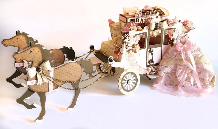 12Prima Marketing Something Blue Princess Carriage & JN Doll Aurora