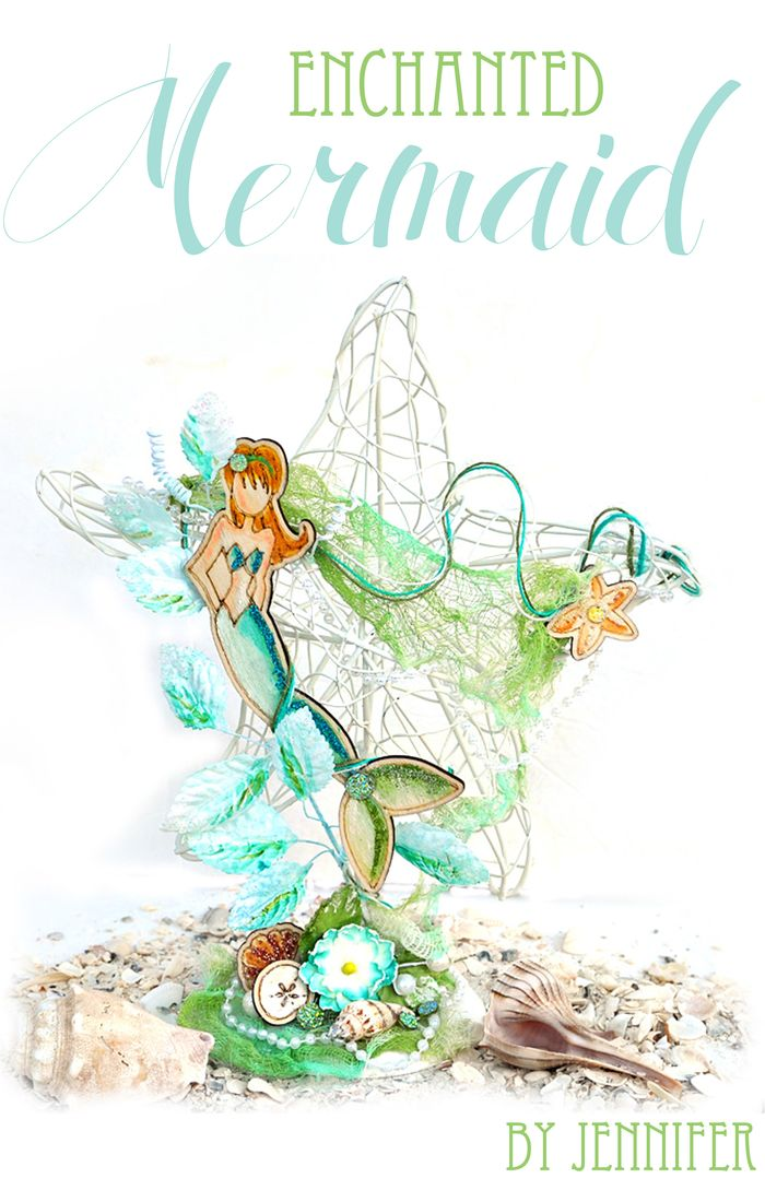 Wood doll jennifer mermaid