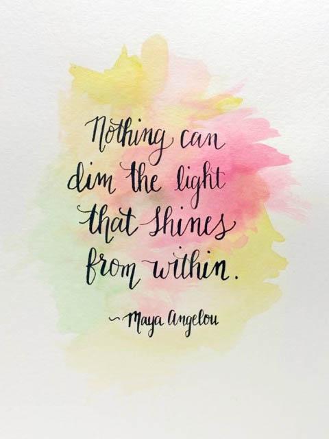 Watercolor melissa quote