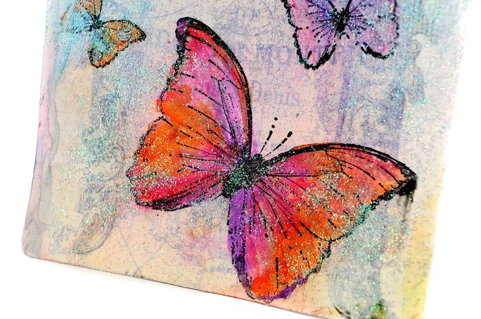 Watercolor fran tag