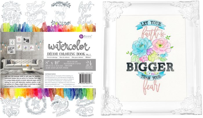 Watercolor decor book and sample