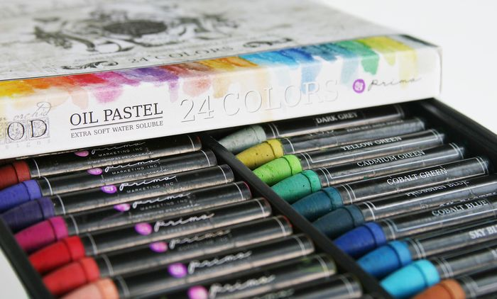 Oil pastels open