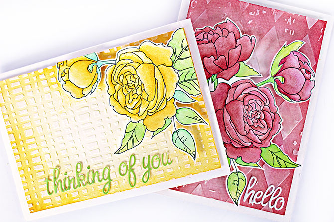 Watercolor Tropicals_Coloring Book 4_Watercolor Paper_Roses_Robbie Herring small